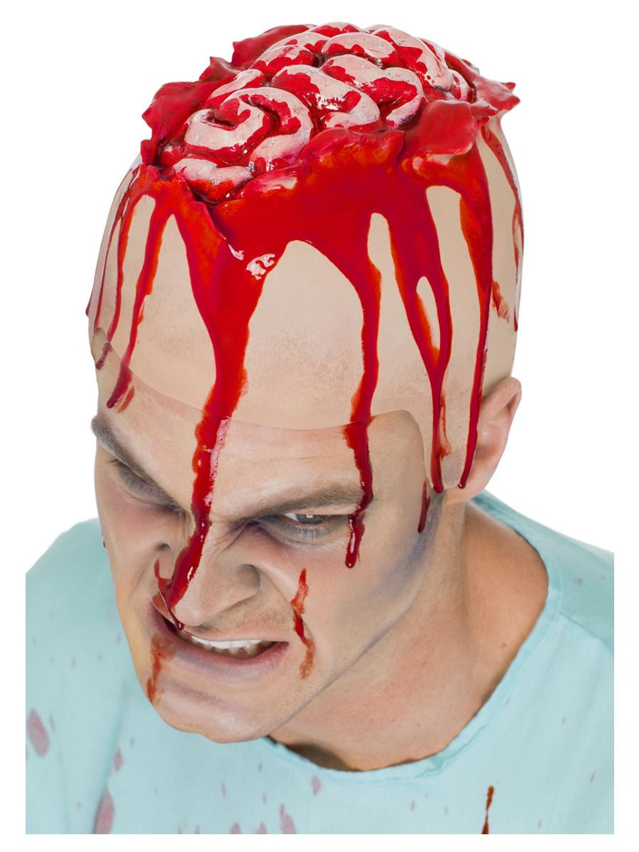 MAKEUP/SCARS & WOUNDS/Open Brain Head Cap, Flesh