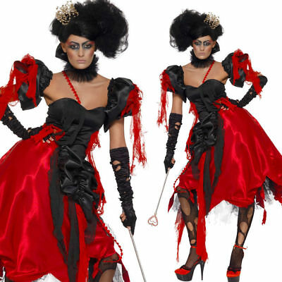 WOMAN/HALLOWEEN/Queen Of Hearts Costume, Black & Red