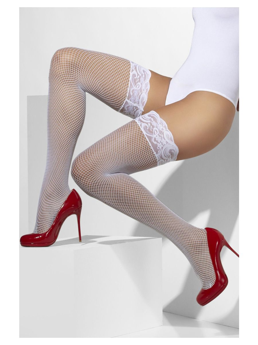 ACCESSORIES/TIGHTS & STOCKINGS/Fishnet Hold-Ups, White