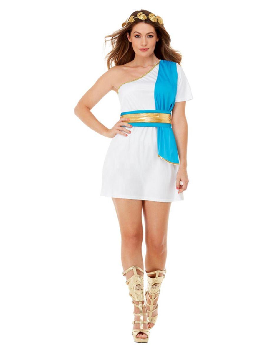 WOMAN/HISTORY/Roman Beauty Costume, Blue & White