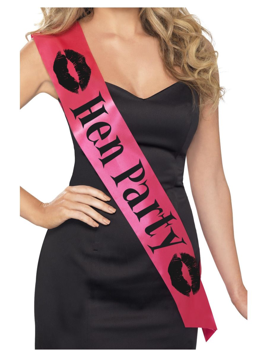 ACCESSORIES/HENS & STAGS/Hen Party Sash, Pink