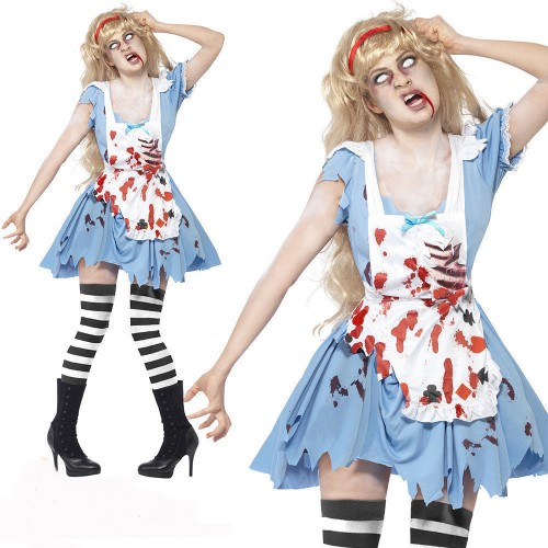 WOMAN/HALLOWEEN/Zombie Malice Costume, Blue