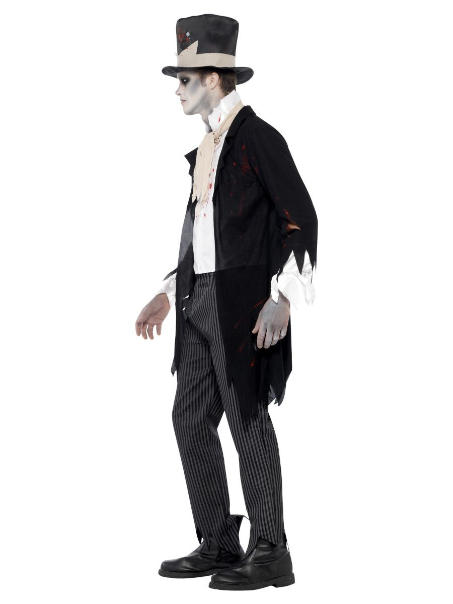 MENS/HALLOWEEN/Till Death Do Us Part Zombie Groom Costume, Black