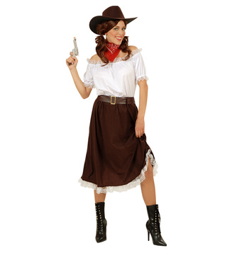 WOMAN/COWBOYS & INDIANS/COWGIRL - INSTANT (shirt skirt belt hat)