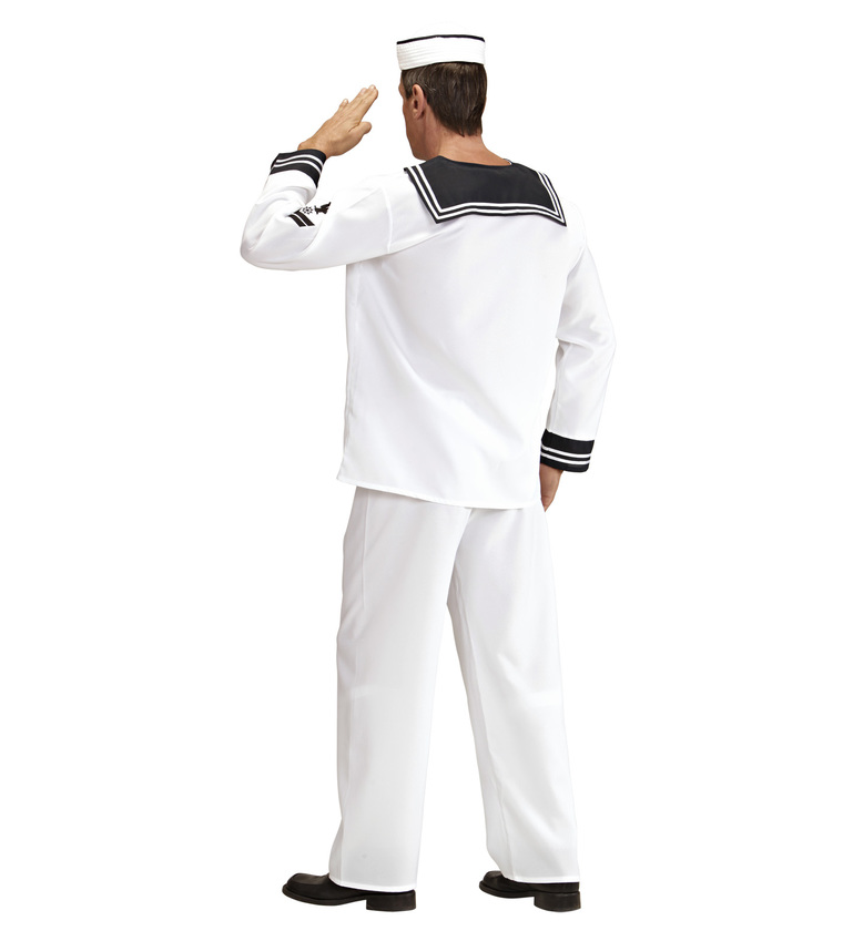 MENS/UNIFORMS/SAILOR COSTUME HEAVY FAB WHITE (coat pants hat)