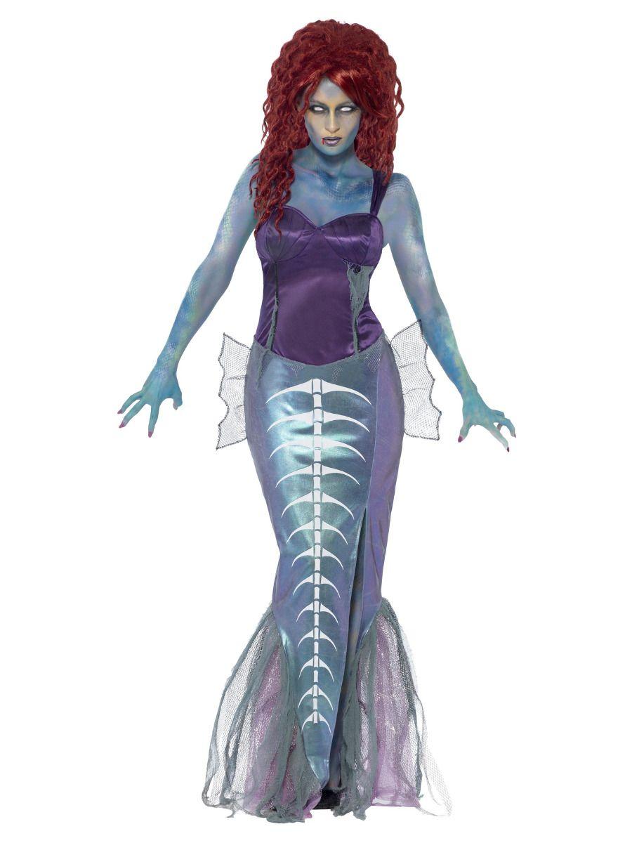 WOMAN/HALLOWEEN/Zombie Mermaid Costume, Purple