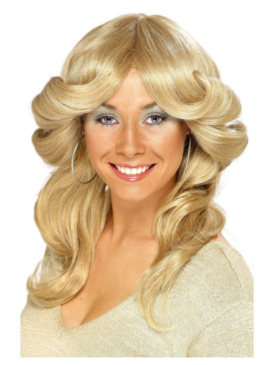 WIG/DECADES/1970'S/70s Flick Wig, Blonde