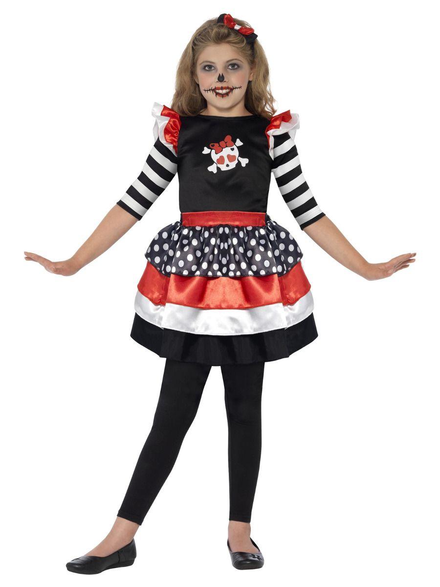 GIRLS/HALLOWEEN/Skully Girl Costume, Black