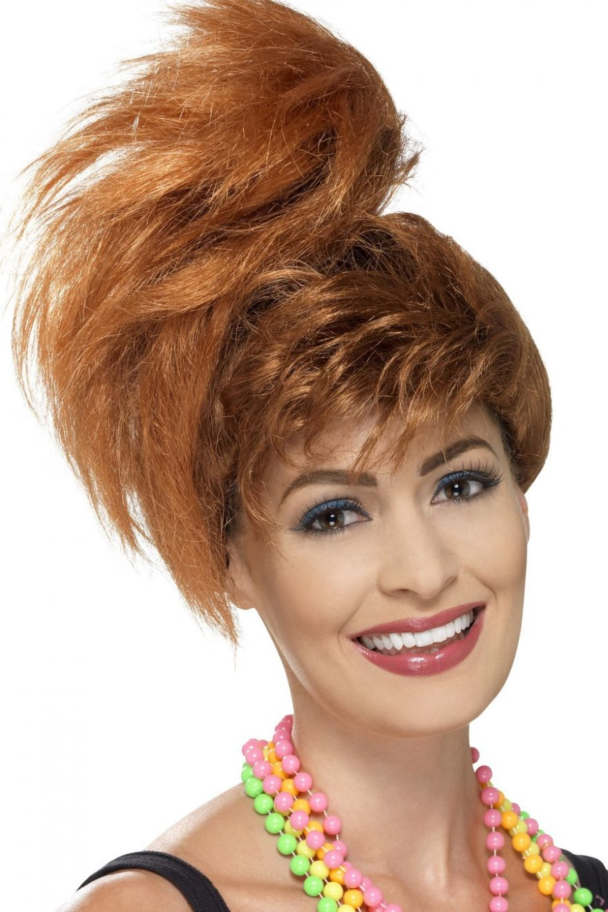 WIG/DECADES/1980S/ 80s SIDE PONYTAIL WITH FRINGE-AUBURN