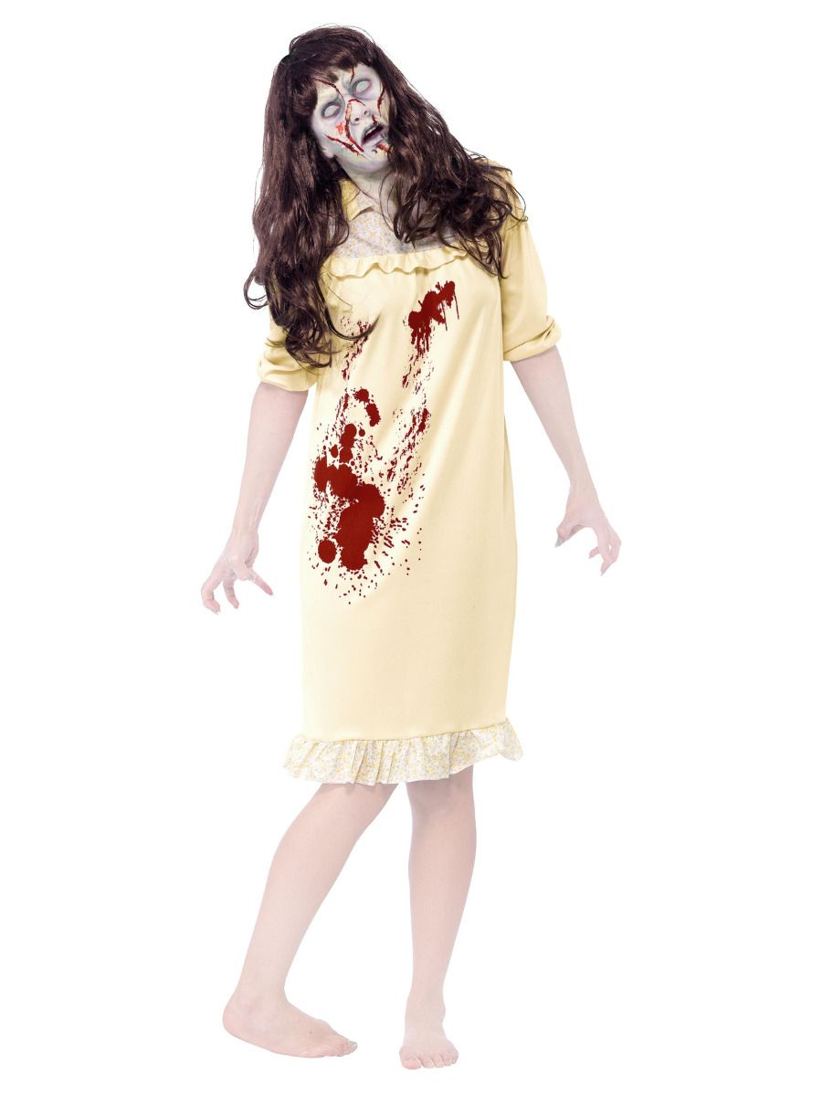 WOMAN/HALLOWEEN/ Zombie Sinister Dreams Costume, Yellow