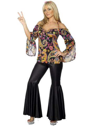 WOMAN/DECADES/1970S/HIPPIE COSTUME