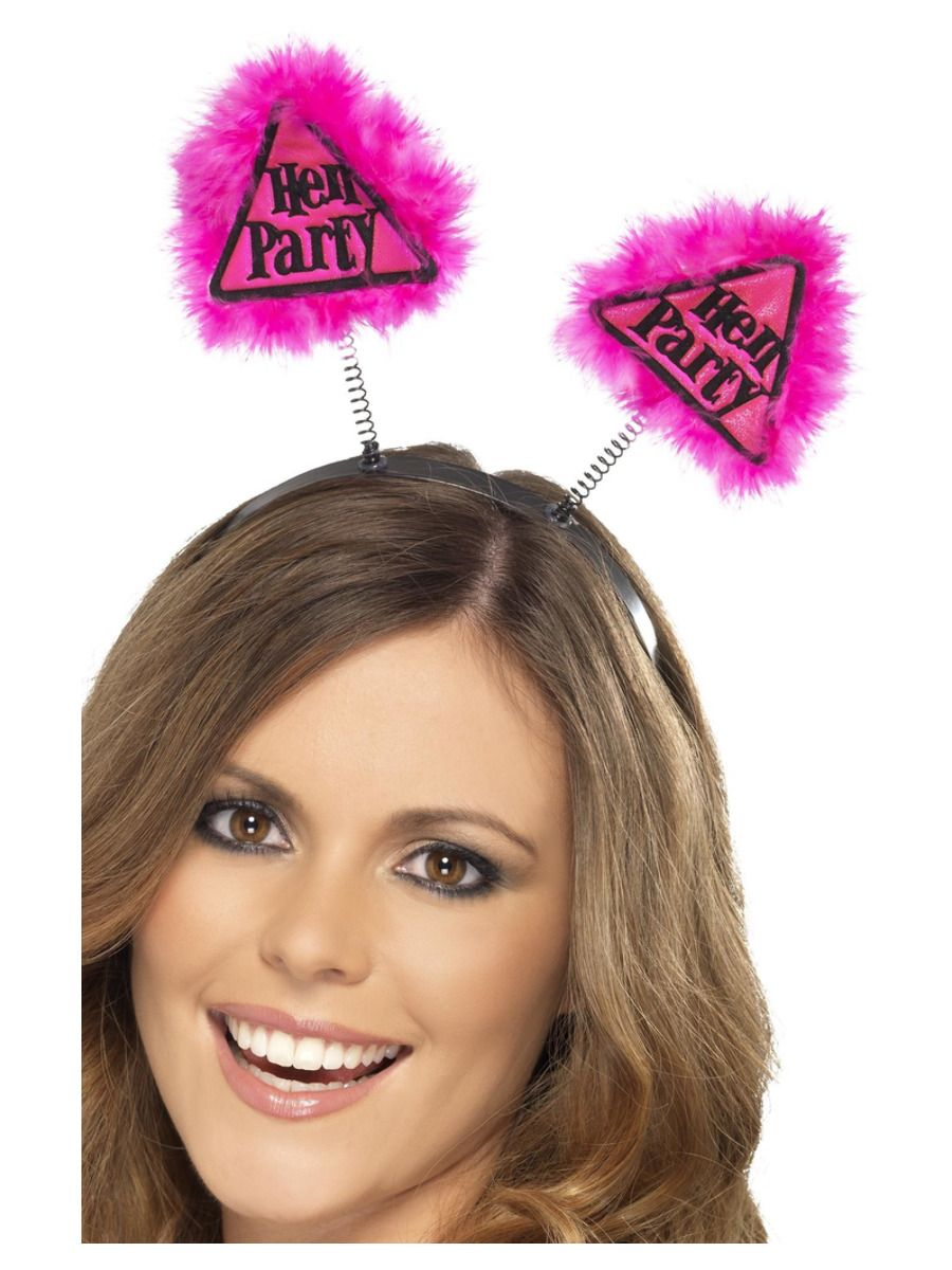 ACCESSORIES/ HENS & STAGS/Hen Party Warning Boppers, Pink