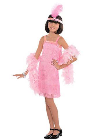 GIRLS/HISTORY/Pink Flapper Dress