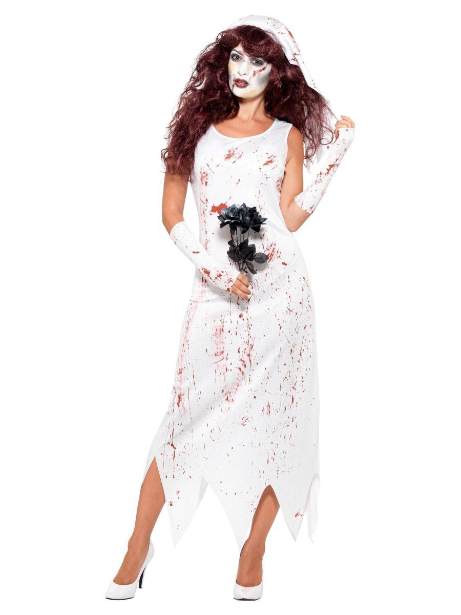 WOMAN/HALLOWEEN/ Zombie Bride Costume, White