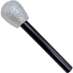 ACCESSORIES/PROPS/GLITTER MICROPHONE