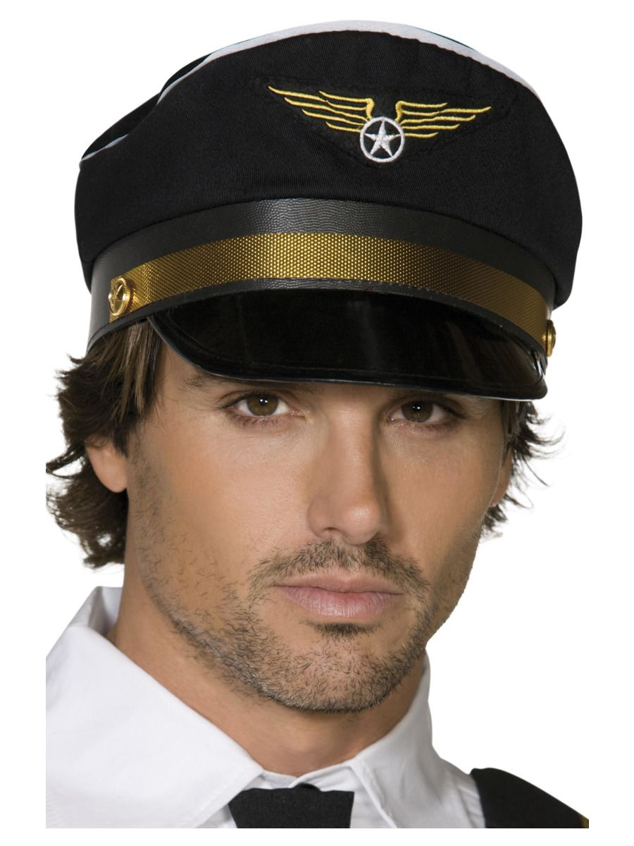 ACCESSORIES/HATS & HEADBANDS/Pilots Cap, Black