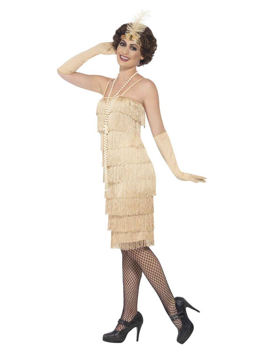 WOMAN/DECADES/1920'S/FLAPPER COSTUME GOLD