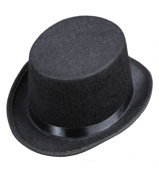 ACCESSORIES/HATS & HEADBANDS/ TOP HAT FELT - CHILD SIZE - BLACK