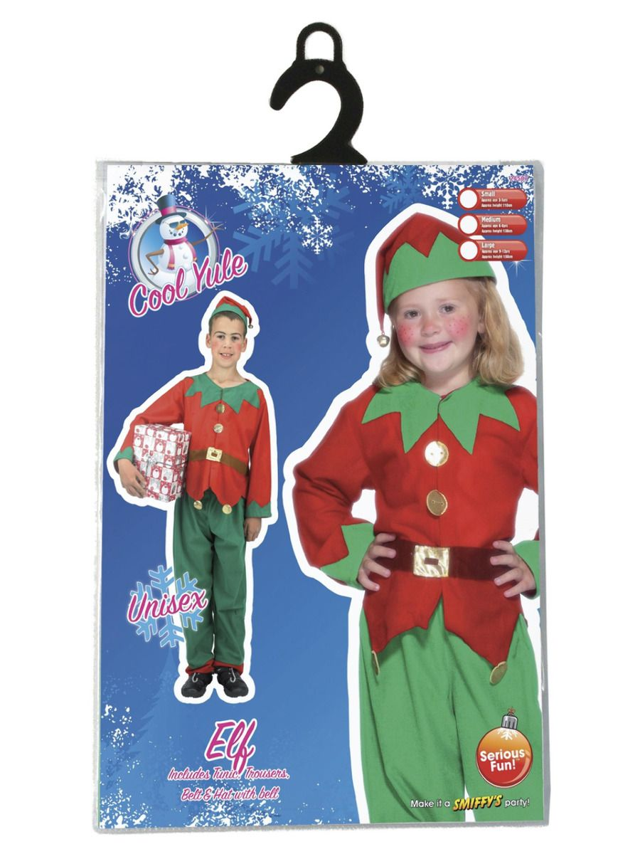 BOYS/CHRISTMAS/Elf Costume, Red & Green