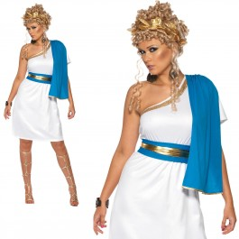 WOMAN/HISTORY/Roman Beauty Costume, Blue & White