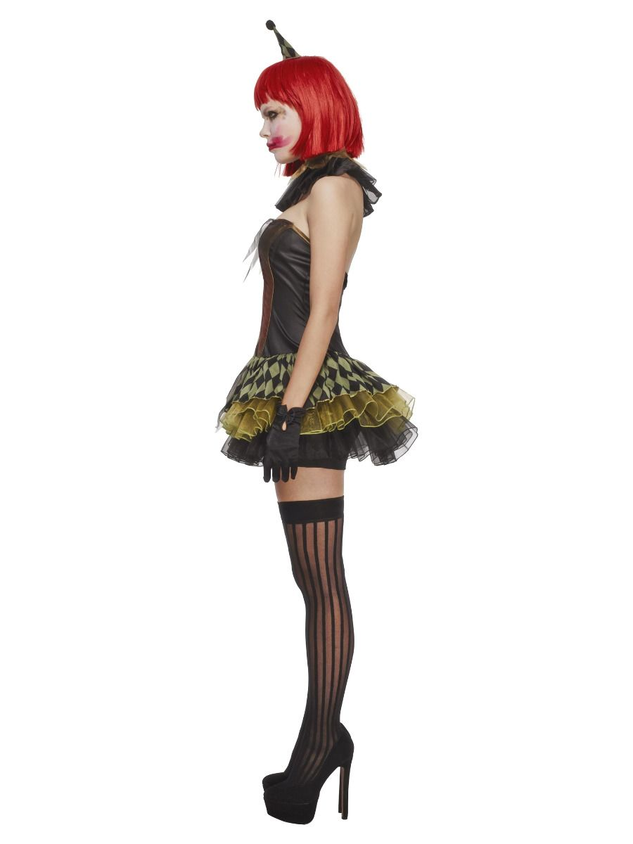 WOMAN/HALLOWEEN/ Fever Creepy Zombie Clown, Black