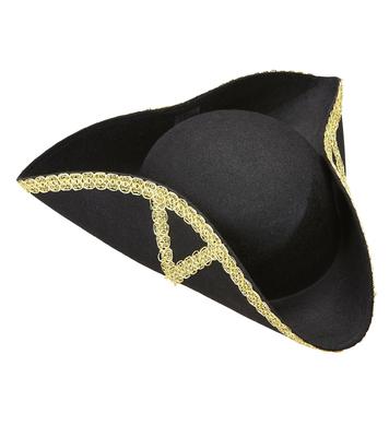 ACCESSORIES/HATS & HEADBANDS/TRICORN HAT FELT DECORATED