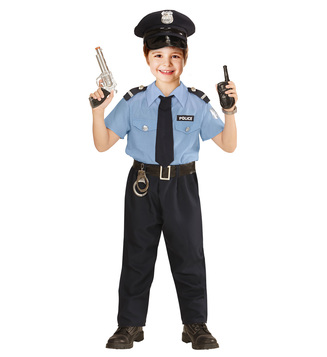 BOYS/UNIFORMS/POLICE OFFICER MAN (shirt pants belt tie hat) Childrens