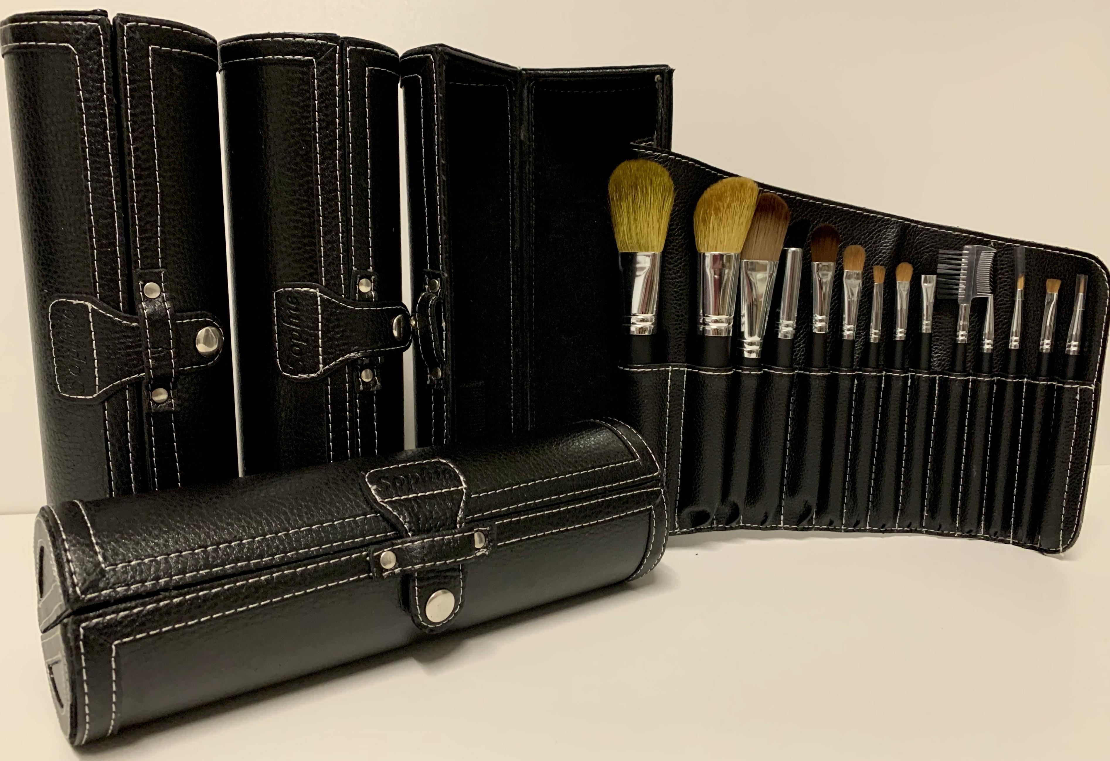 Kosmetik Pinsel Set mit Tasche • 2 Größen
