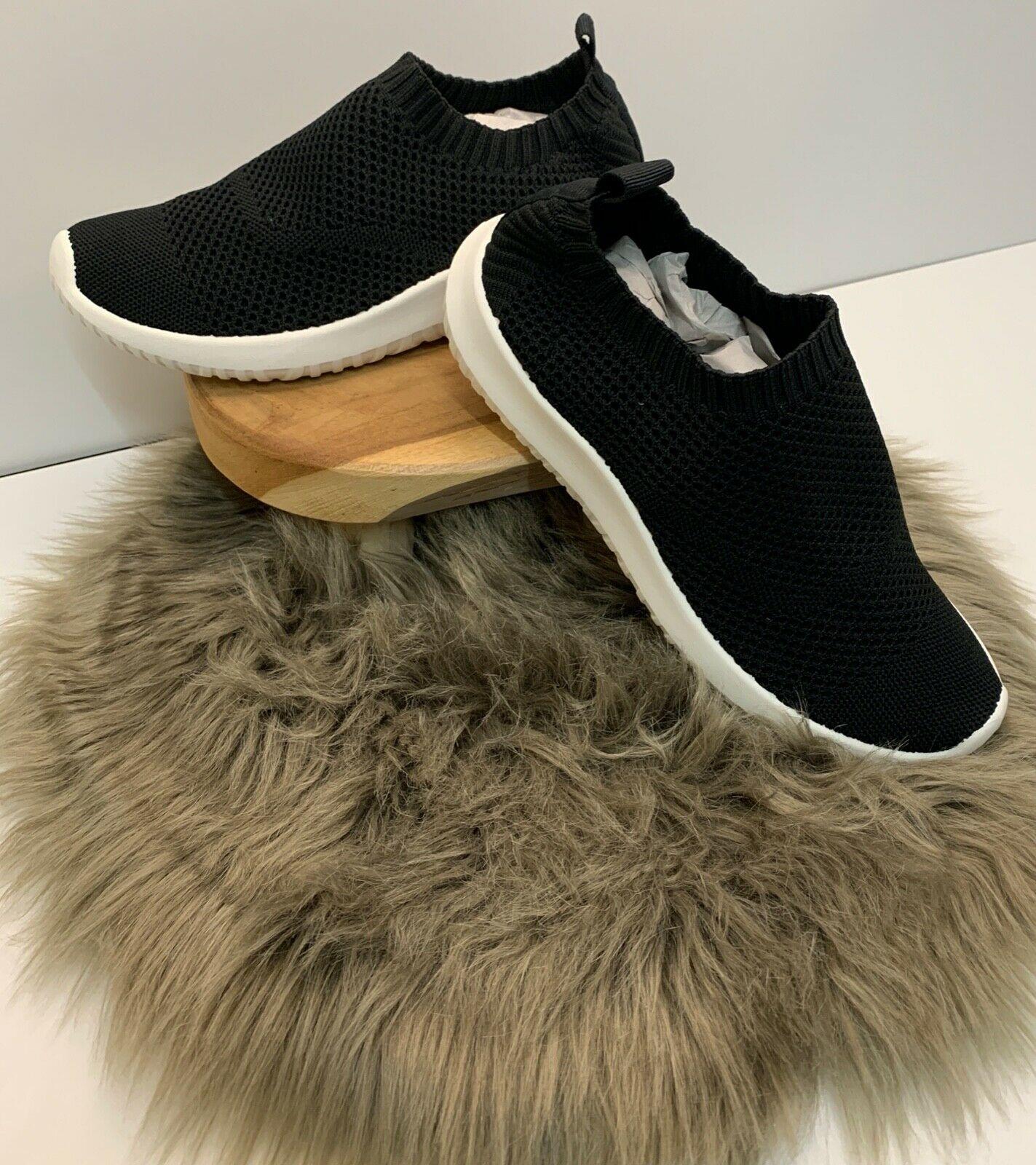 Damen Netz Sneaker schwarz mit weißer Sohle NEU Gr. 36-41