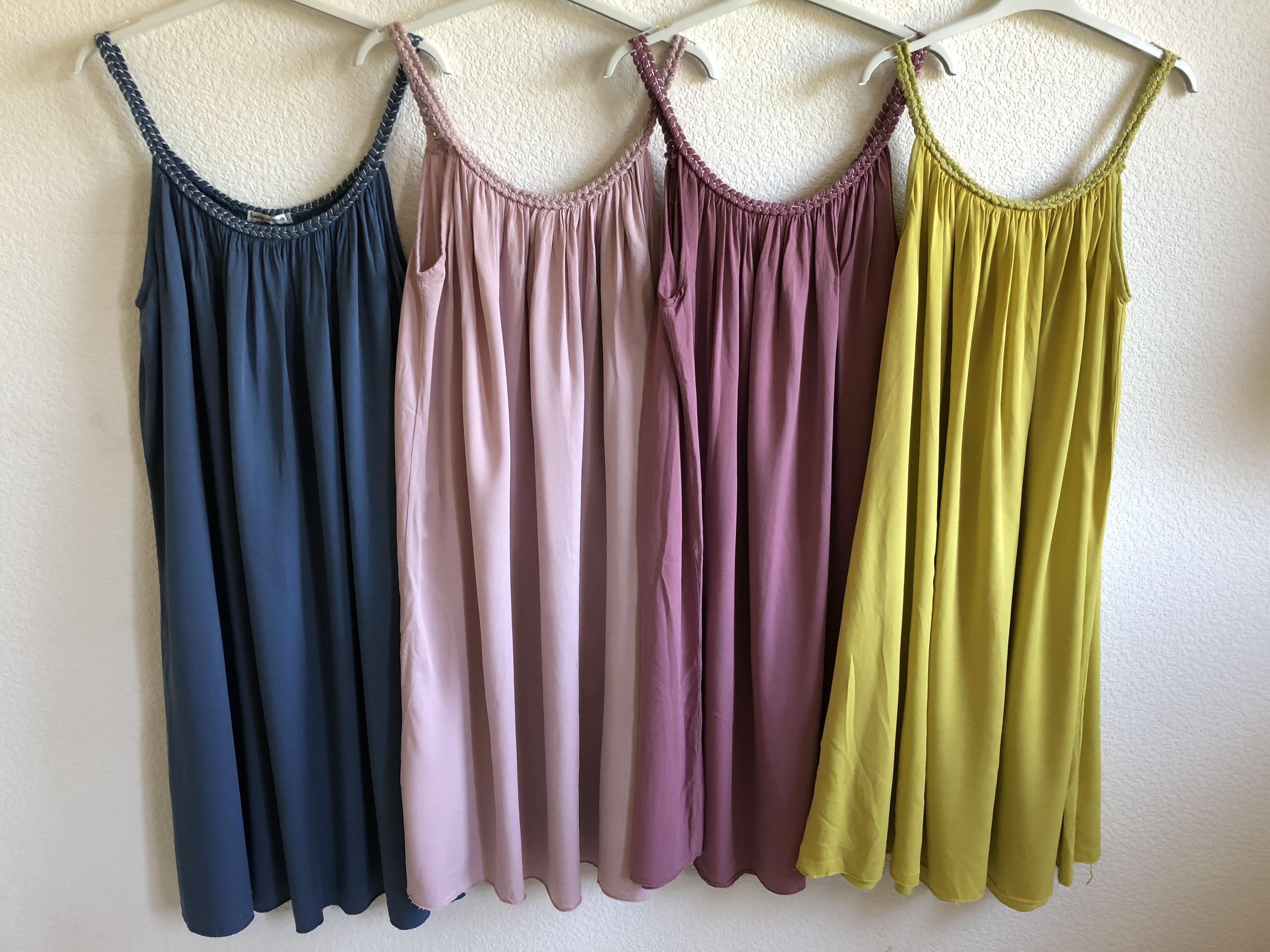 Strand Kleid geflochtene Träger • bis Gr. 42/44 • 4 Farben