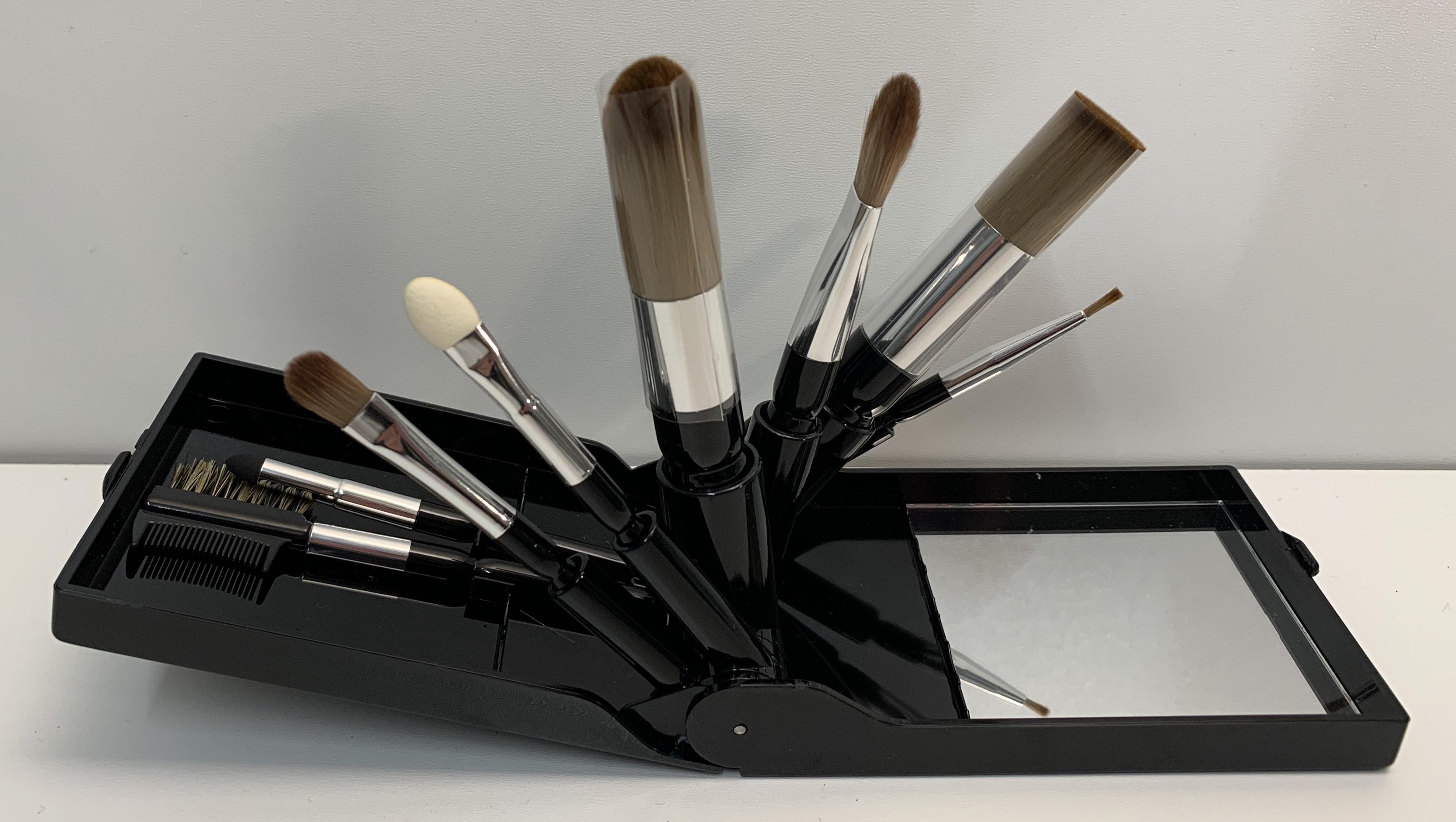 Schmink Pinsel Set 8-teilig mit Spiegel