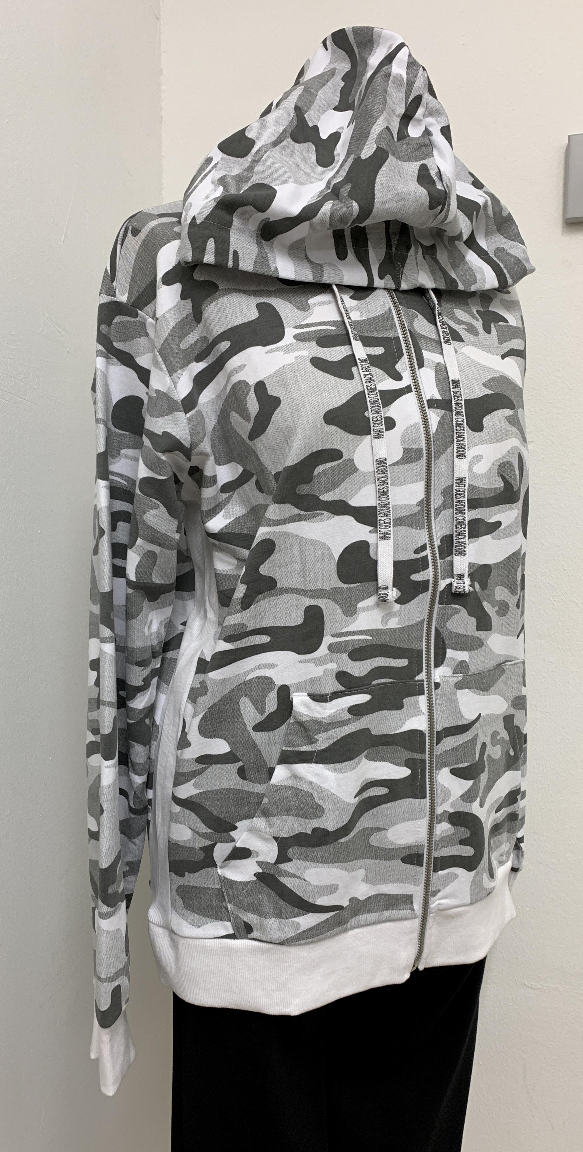Haily's Men • Herren Kapuzen Sweatjacke • camouflage • S-L
