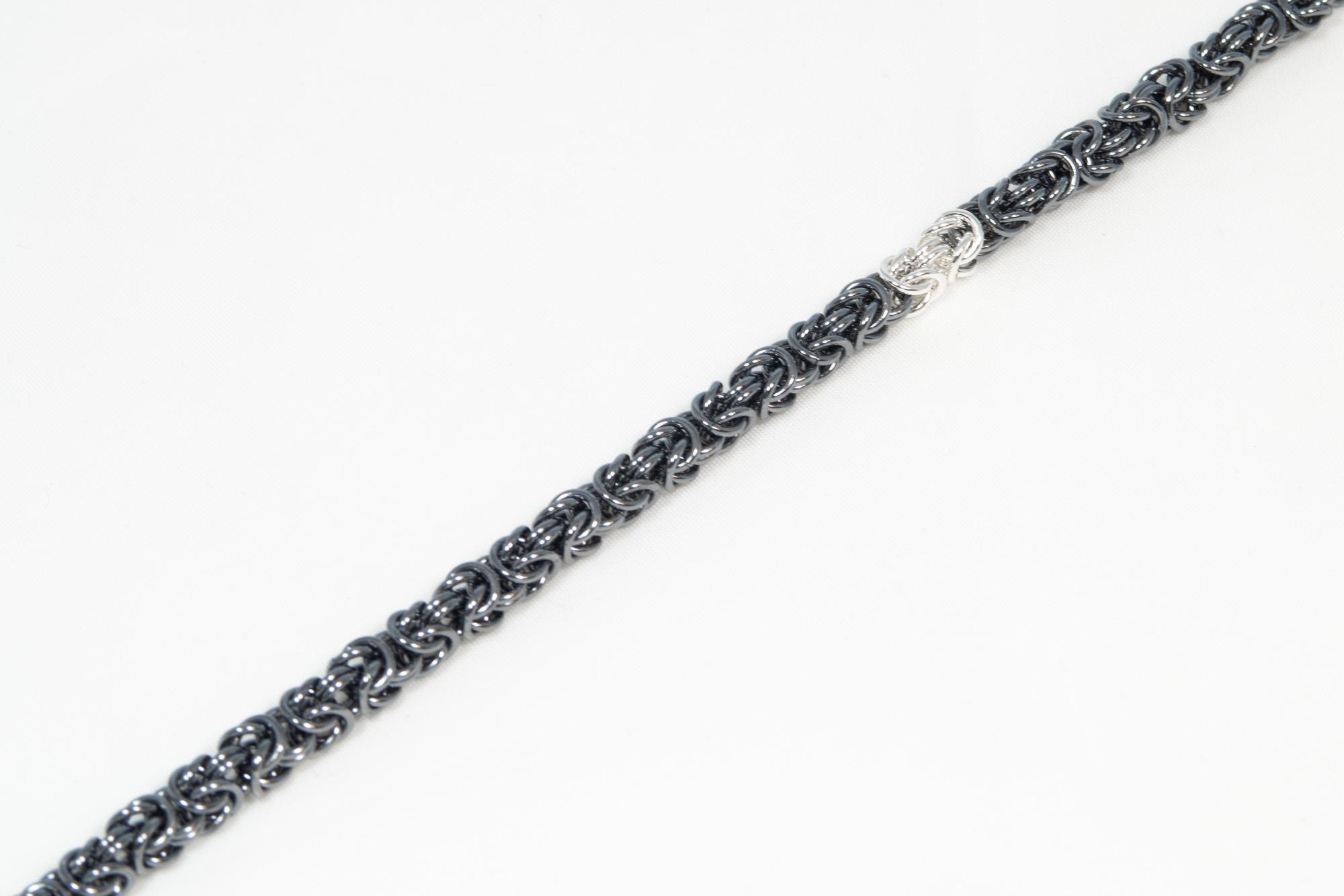 Hint - Konge - armbånd sølv oksidert