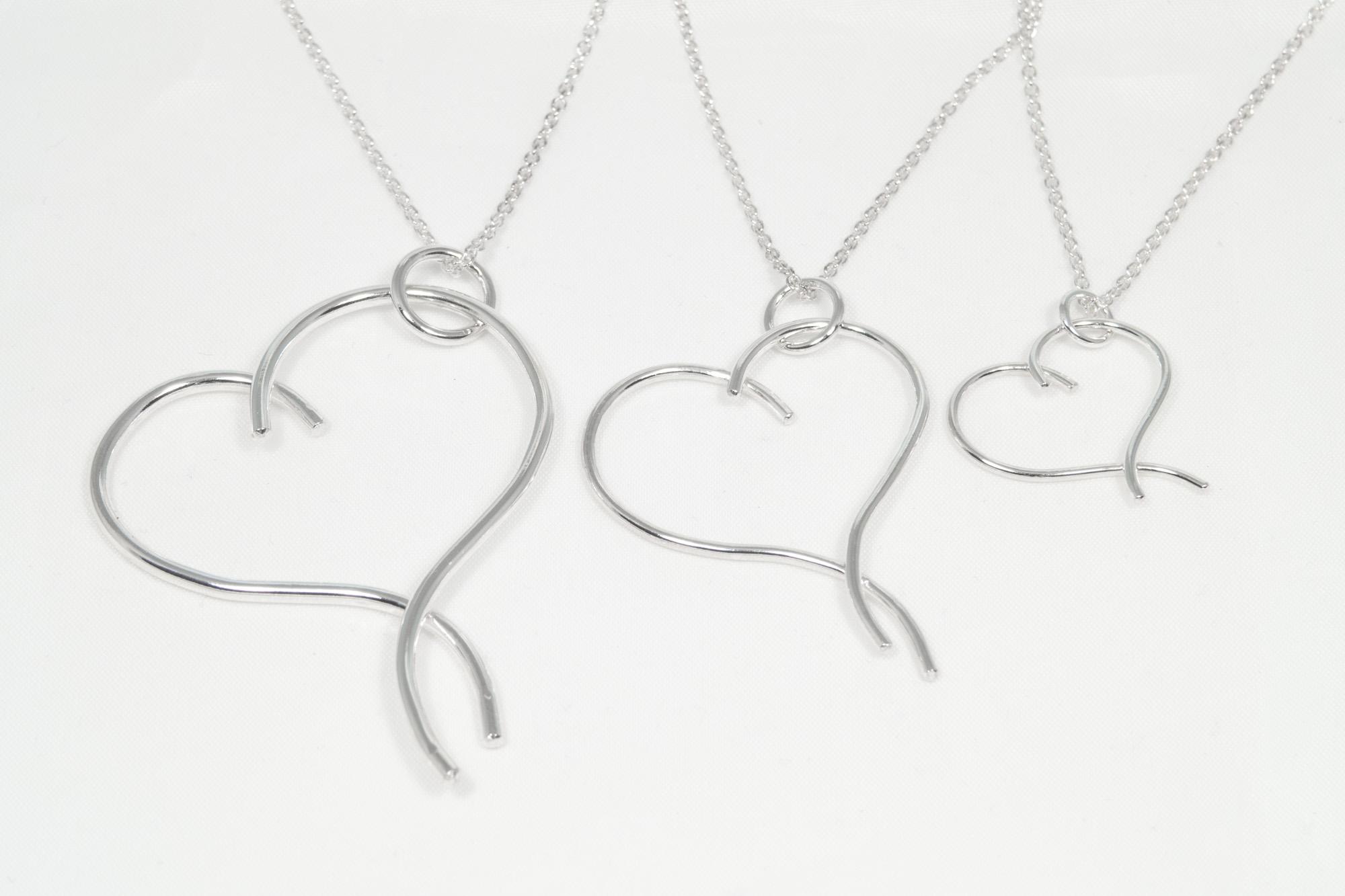 Hjerte - anheng sølv