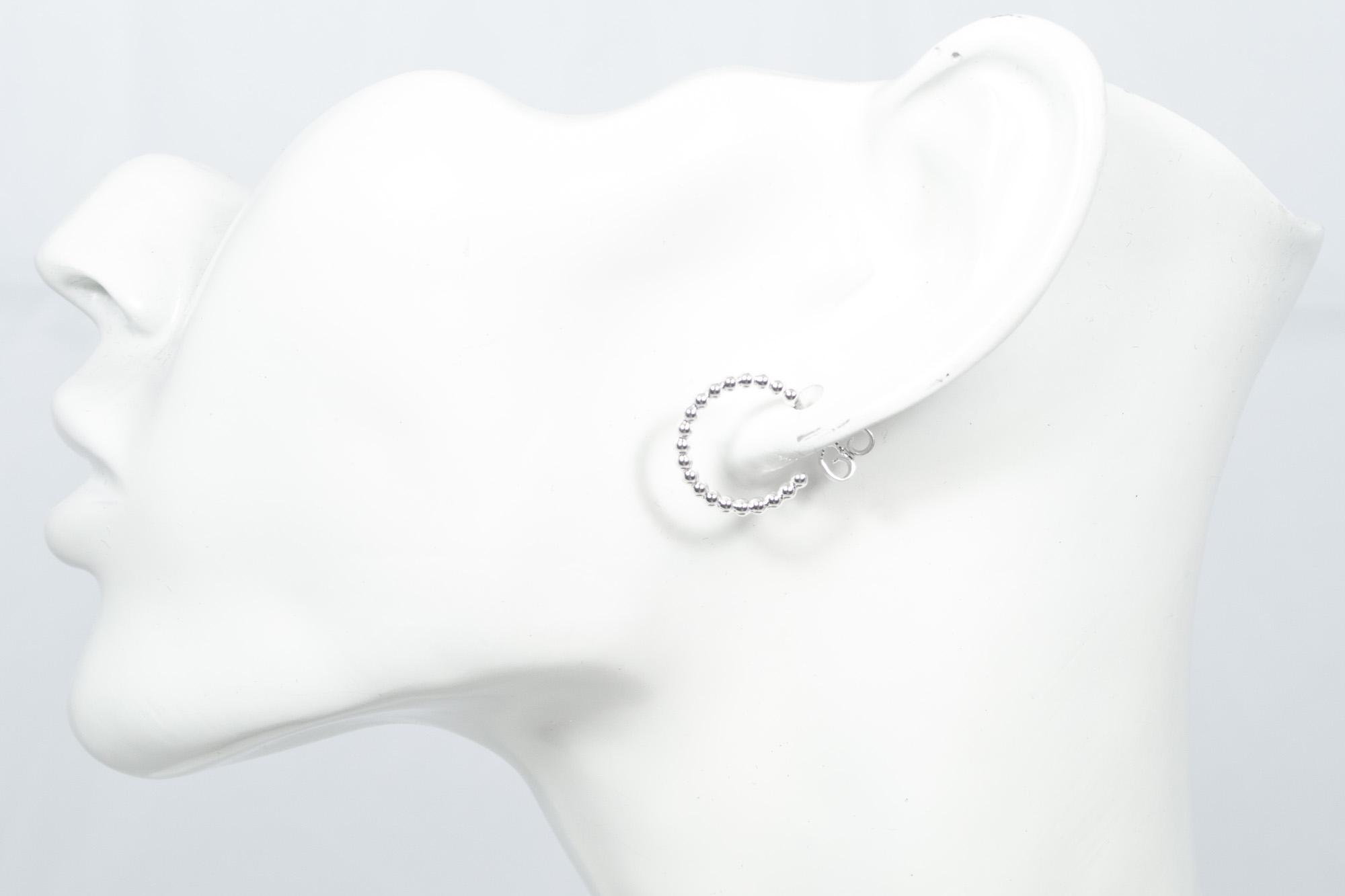 Creol perletråd - øredobber sølv