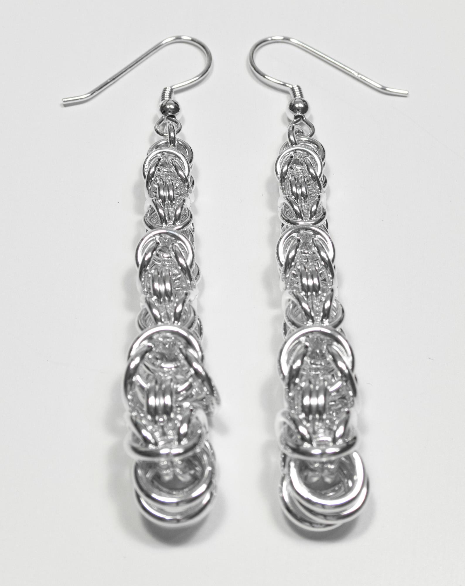 Konge - øredobber sølv