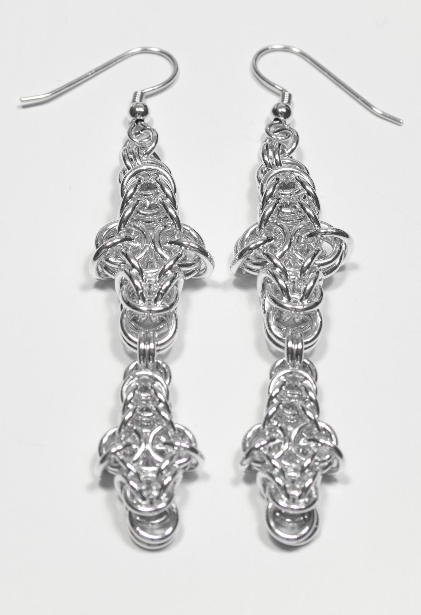 Kors - øredobber sølv