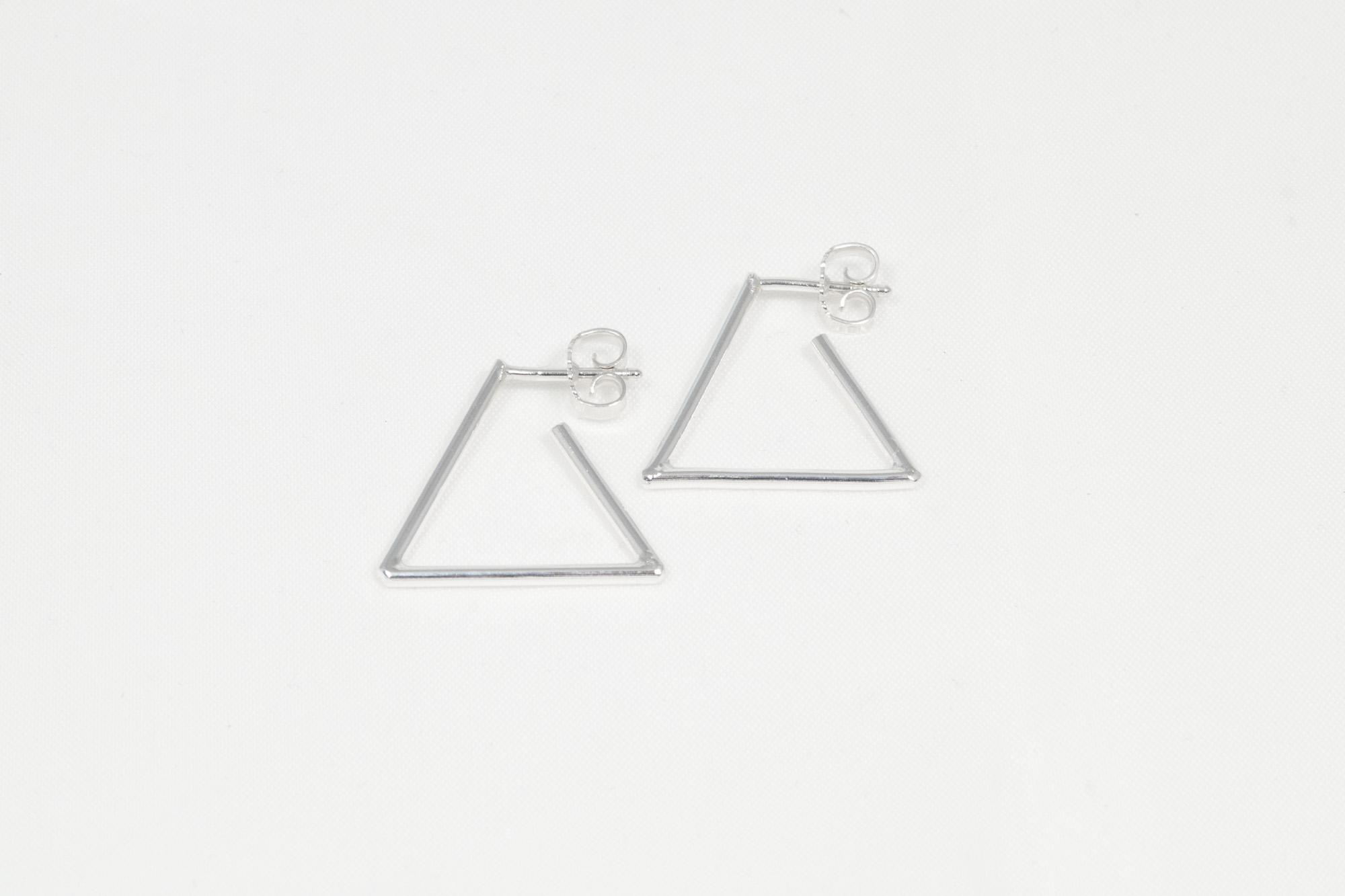 Triangel - øredobber sølv