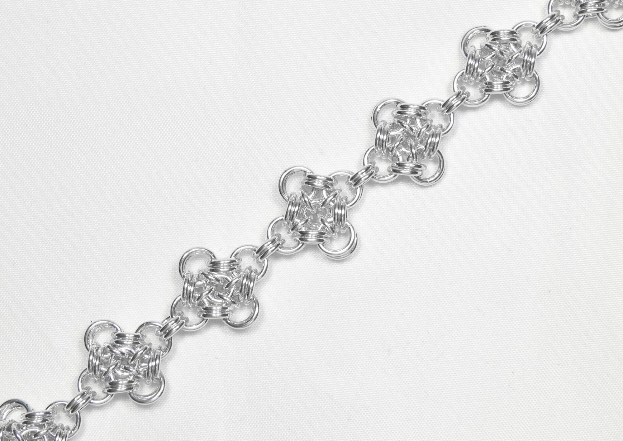 Firkløver - armbånd sølv