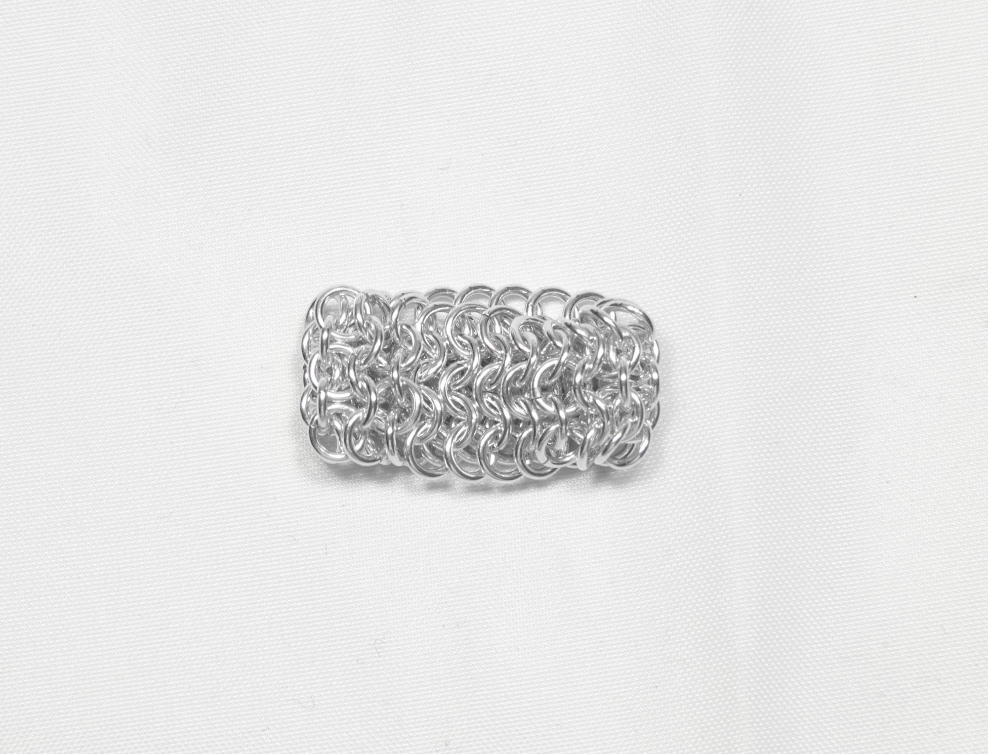 Brynje - ring sølv