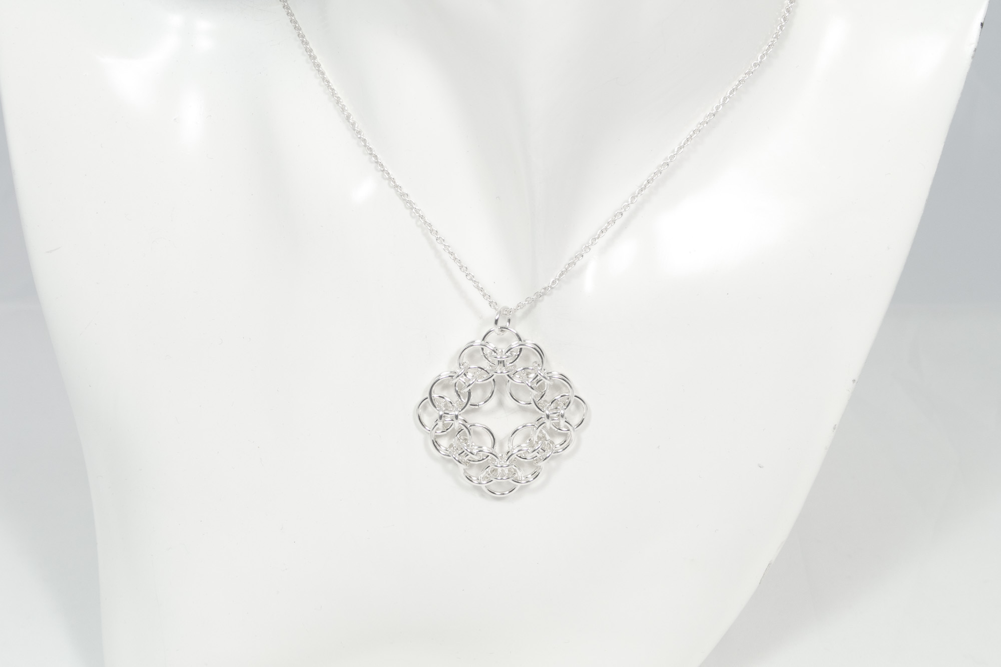 Boble firkant - anheng sølv