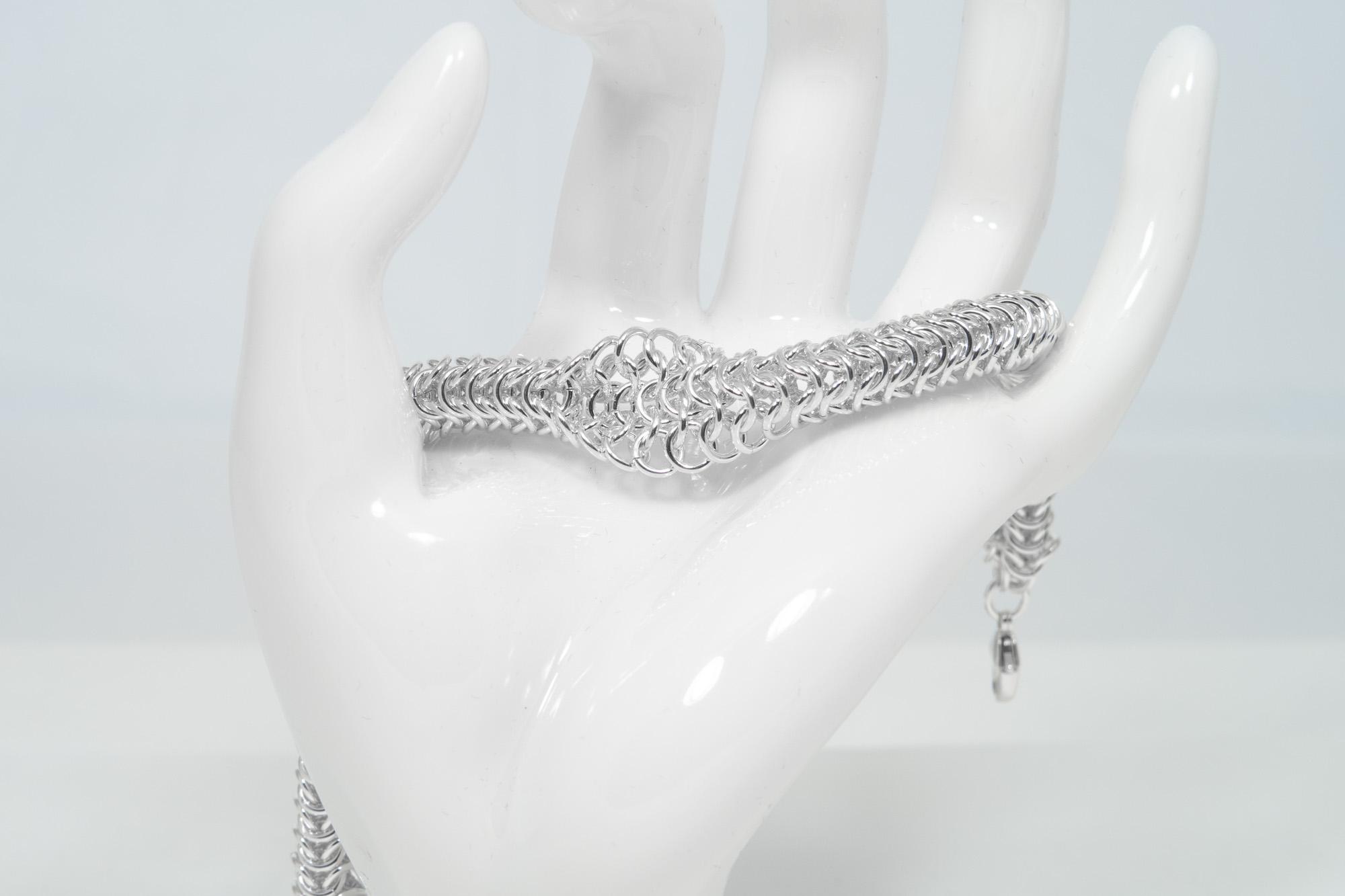 Rund Brynje Vridd - armbånd sølv