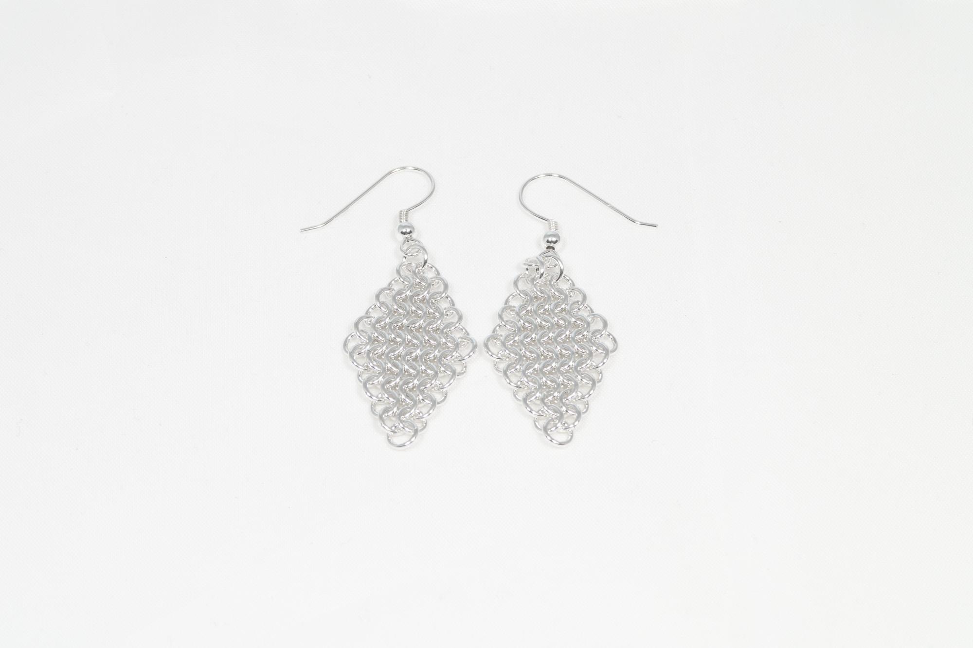 Brynje - øredobber sølv