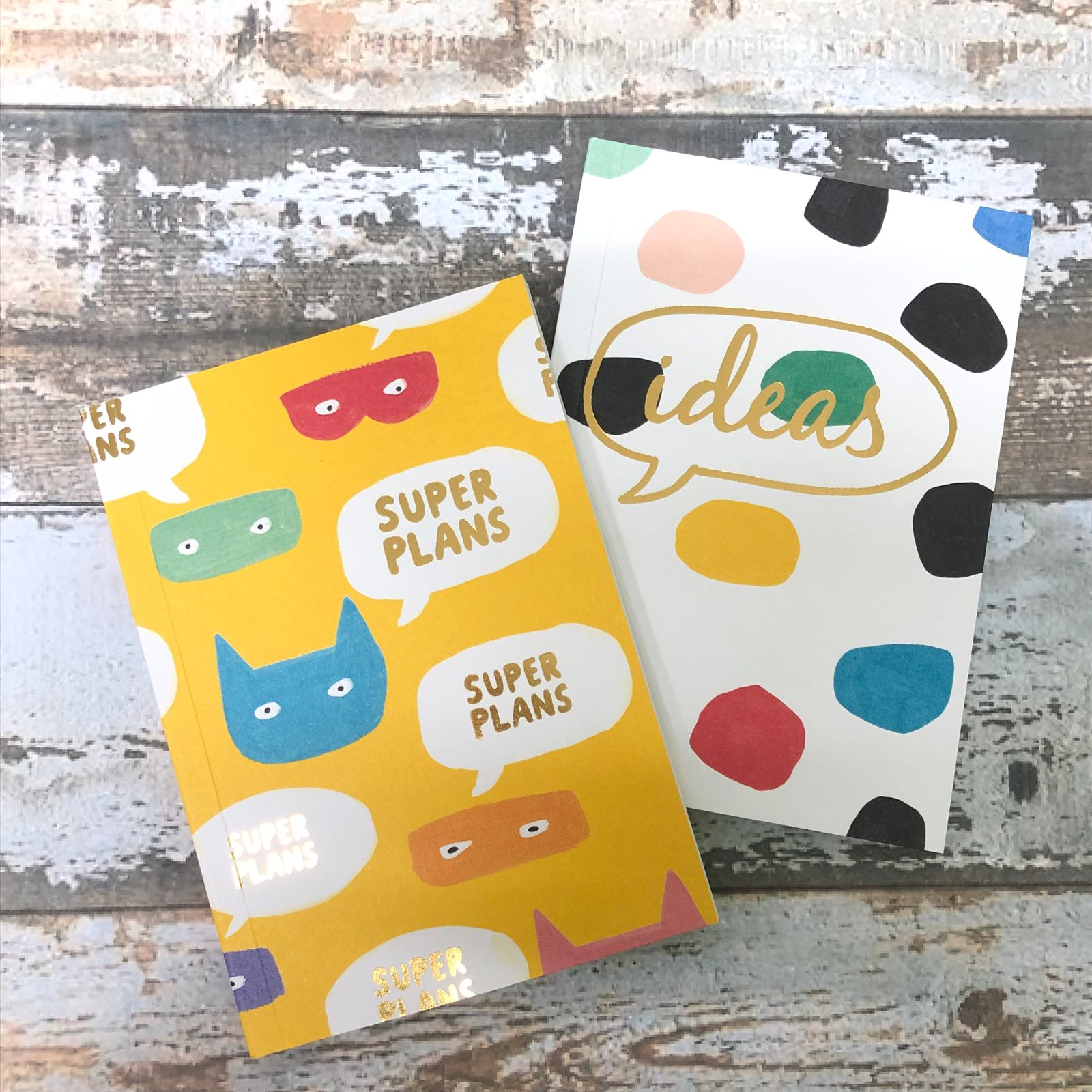 Super plans & ideas Pack of 2 notepads