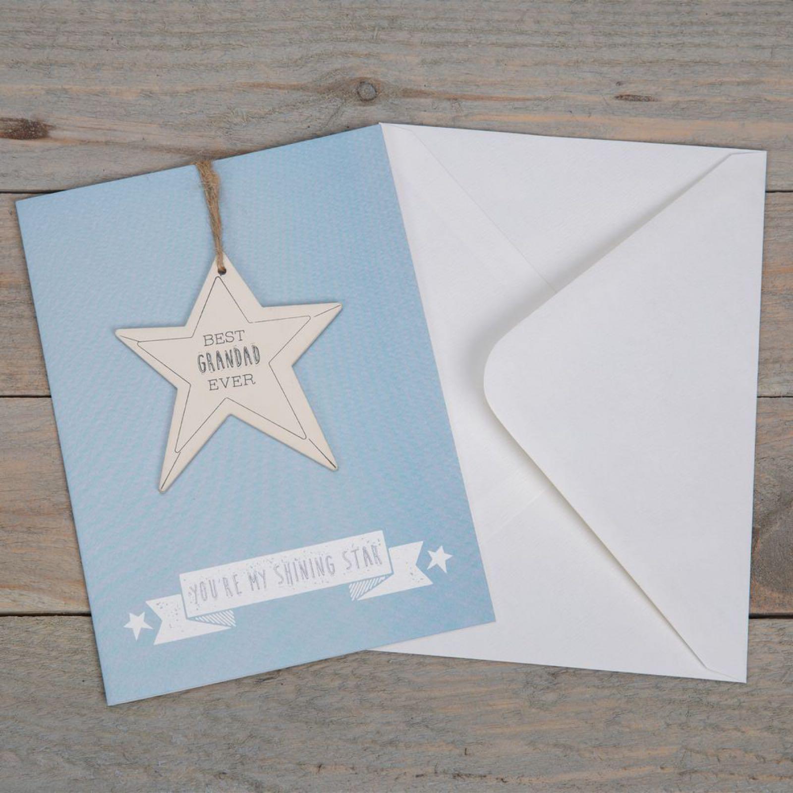 Best Grandad Ever Greeting Card & Plaque