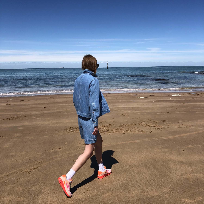 Kings of Indigo- Bangja light denim shorts- ON SALE