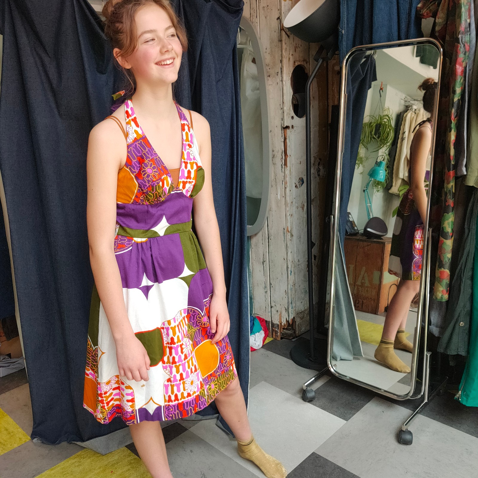 Vintage- Original Hawaiian halter dress