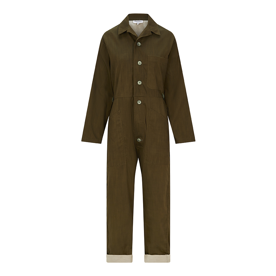 WerkHaus Margate boilersuit- Olive denim