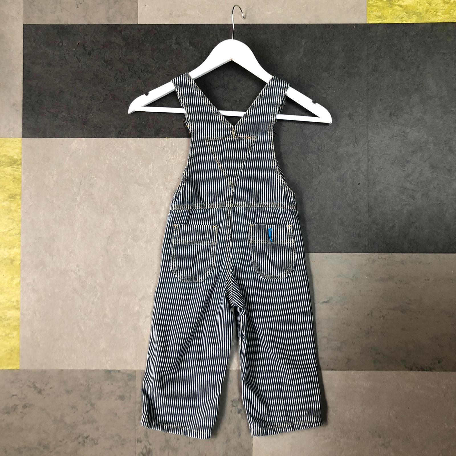Vintage kids hickory dungarees- age 1-2