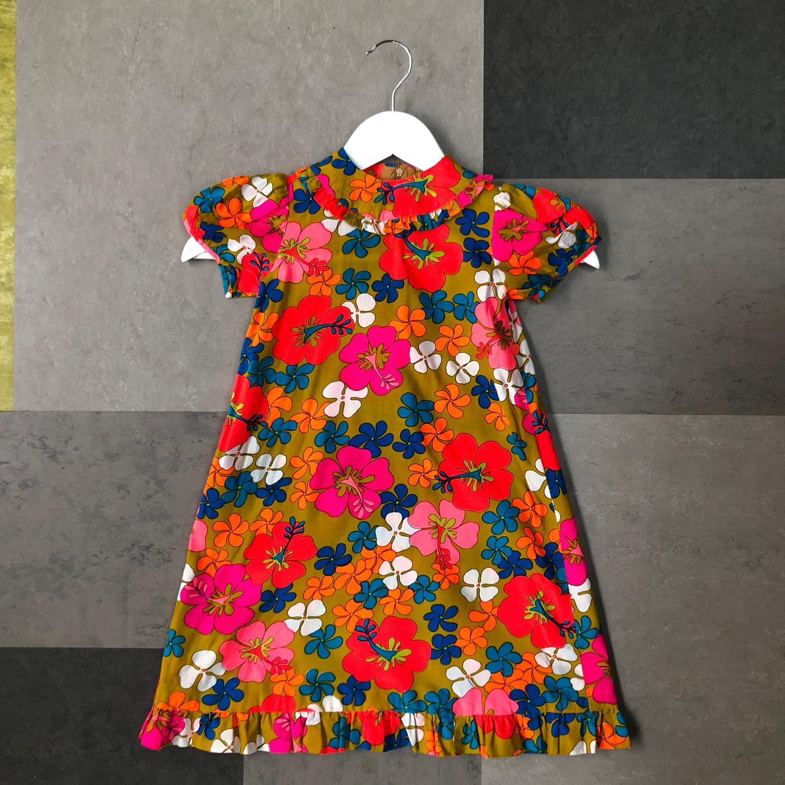 Vintage floral kids dress- age 2-3